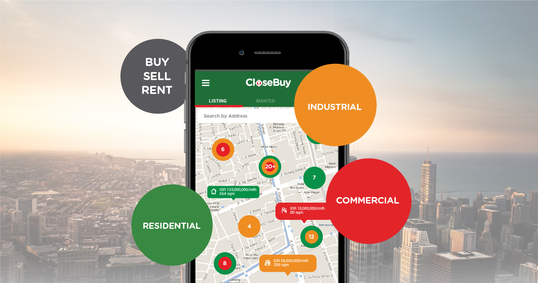 CloseBuy | KF Map Indonesia Property, Infrastructure